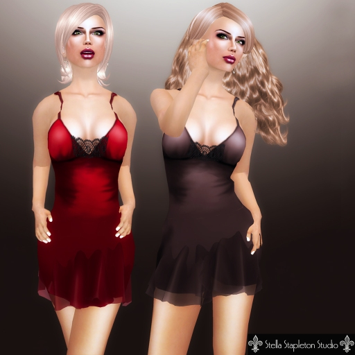 Gumi's Slip Dress (red and mocha)
