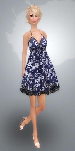 SHIKI designs summer dress INDIGO