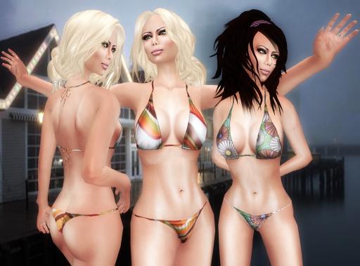 SHIKI Retro chic and retro blossom bikinis