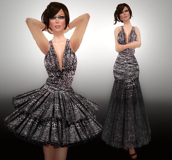 Indigoblue Francesca snakeskin gown