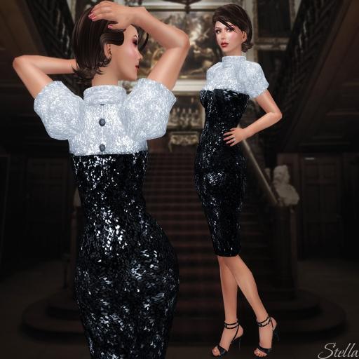 L'Abel Emelie black sequins dress