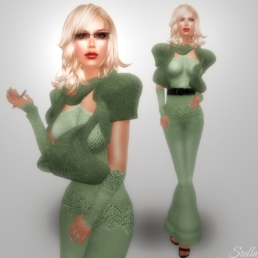 L'Abel Sindy Green pants set