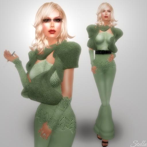 L'Abel Sindy Green pants set