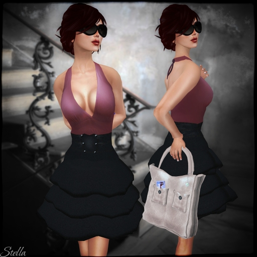 StoRin Berry high waist skirt, Hair by FD Sarah, StoRin Beje bag , glasses by Armidi Gisaci tortoishelle black, Pose by SP sassy & sexy attitude, skin by Redgrave_001 copy